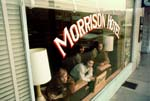 The Doors during the cover shoot for the Morrison Hotel album cover